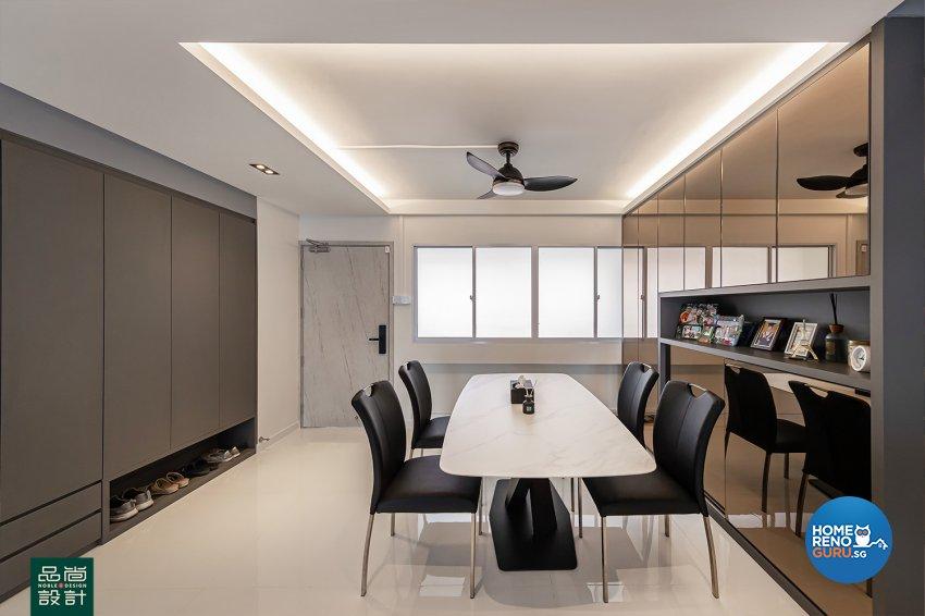Modern Design - Dining Room - HDB 5 Room - Design by Noble Interior Design Pte Ltd