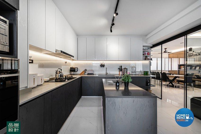 Modern Design - Kitchen - HDB 5 Room - Design by Noble Interior Design Pte Ltd