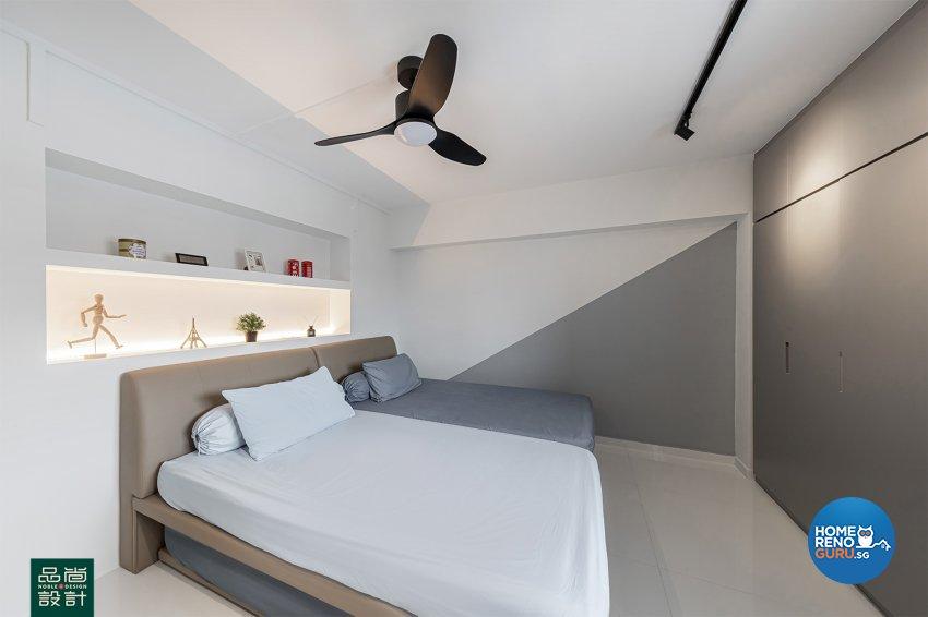 Modern Design - Bedroom - HDB 5 Room - Design by Noble Interior Design Pte Ltd