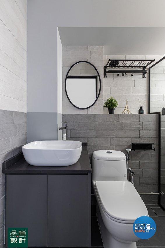Modern Design - Bathroom - HDB 5 Room - Design by Noble Interior Design Pte Ltd
