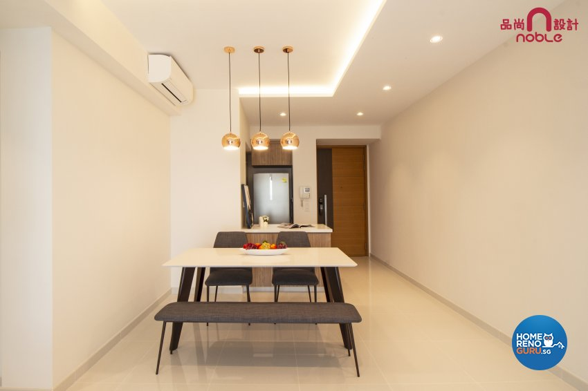Modern, Scandinavian Design - Dining Room - Condominium - Design by Noble Interior Design Pte Ltd