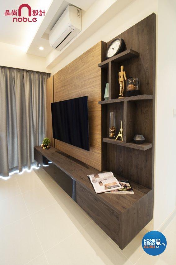 Modern, Scandinavian Design - Living Room - Condominium - Design by Noble Interior Design Pte Ltd