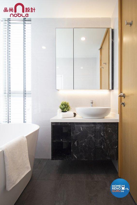 Modern, Scandinavian Design - Bathroom - Condominium - Design by Noble Interior Design Pte Ltd