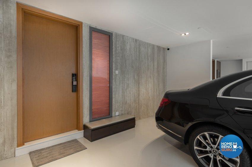 Oriental Design - Balcony - Landed House - Design by Noble Interior Design Pte Ltd