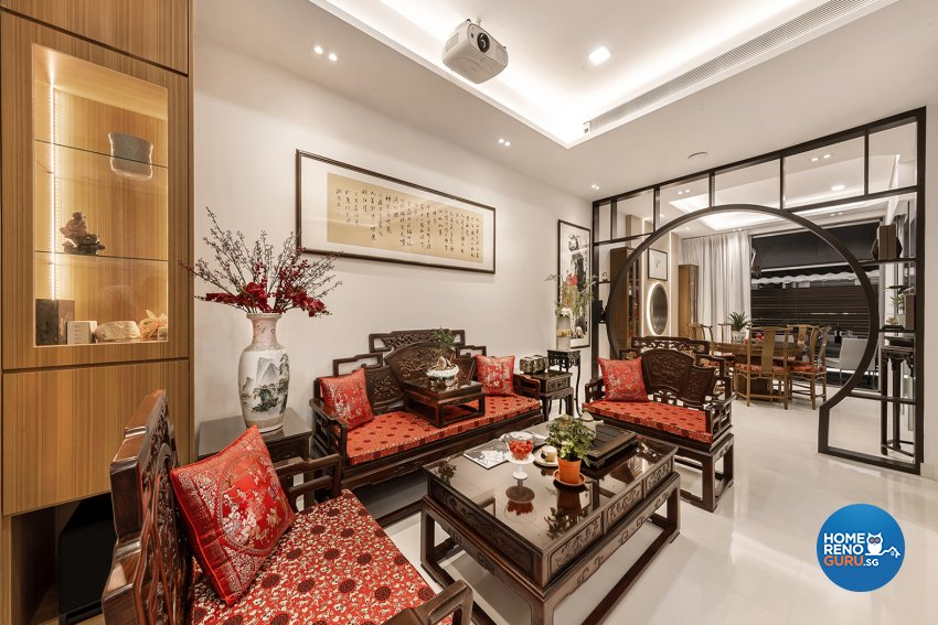 Oriental Design - Living Room - Landed House - Design by Noble Interior Design Pte Ltd
