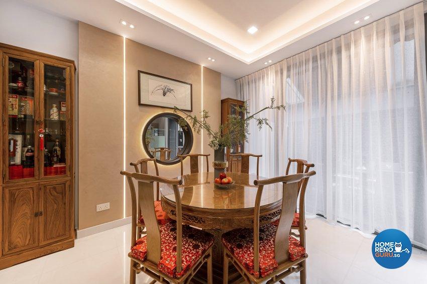 Oriental Design - Dining Room - Landed House - Design by Noble Interior Design Pte Ltd