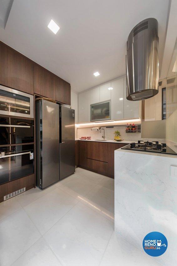 Oriental Design - Kitchen - Landed House - Design by Noble Interior Design Pte Ltd