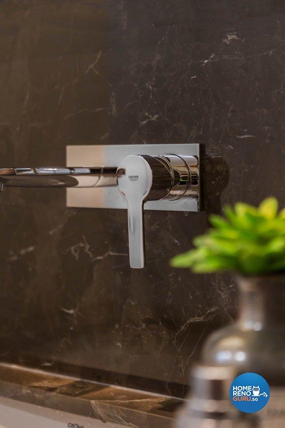 Oriental Design - Bathroom - Landed House - Design by Noble Interior Design Pte Ltd