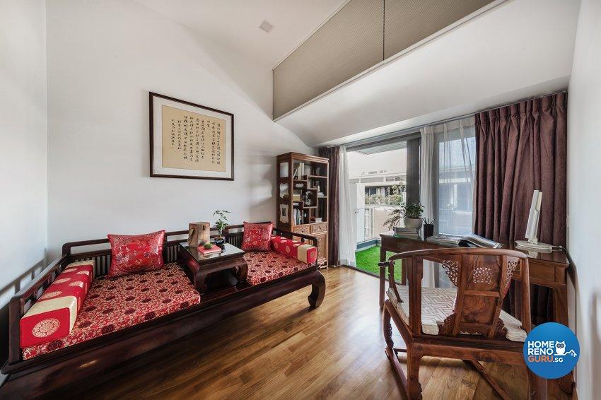Oriental Design - Study Room - Landed House - Design by Noble Interior Design Pte Ltd