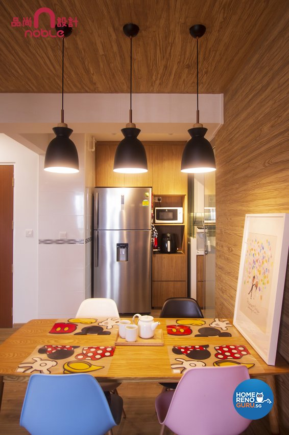 Scandinavian Design - Dining Room - HDB 5 Room - Design by Noble Interior Design Pte Ltd