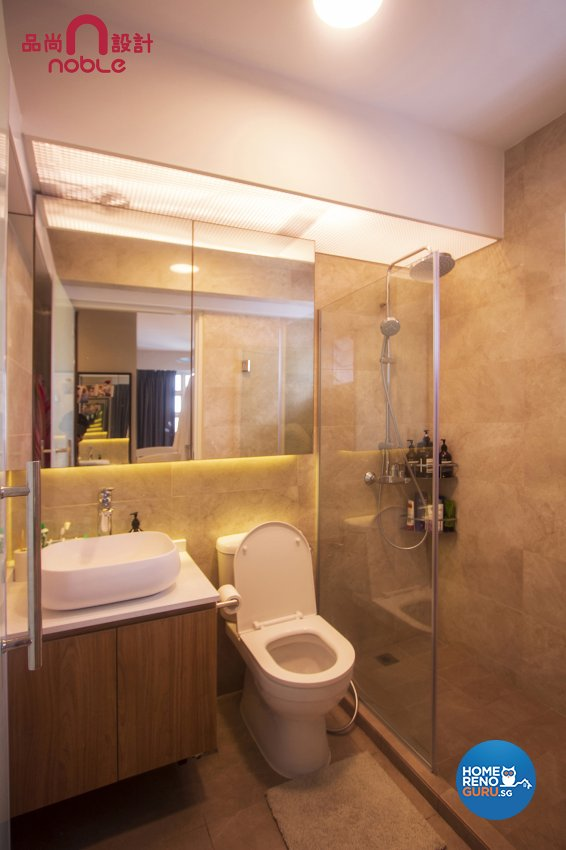 Scandinavian Design - Bathroom - HDB 5 Room - Design by Noble Interior Design Pte Ltd