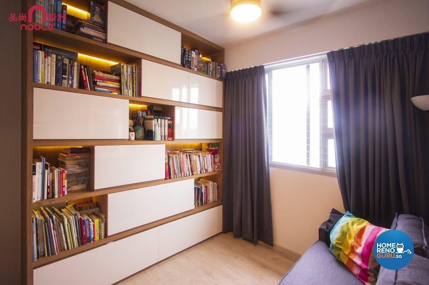 Scandinavian Design - Study Room - HDB 5 Room - Design by Noble Interior Design Pte Ltd