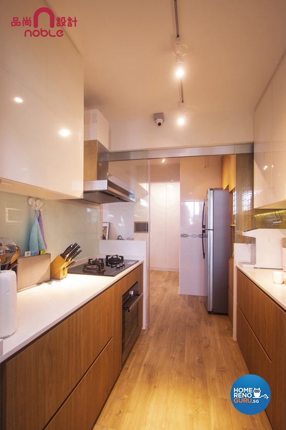 Scandinavian Design - Kitchen - HDB 5 Room - Design by Noble Interior Design Pte Ltd