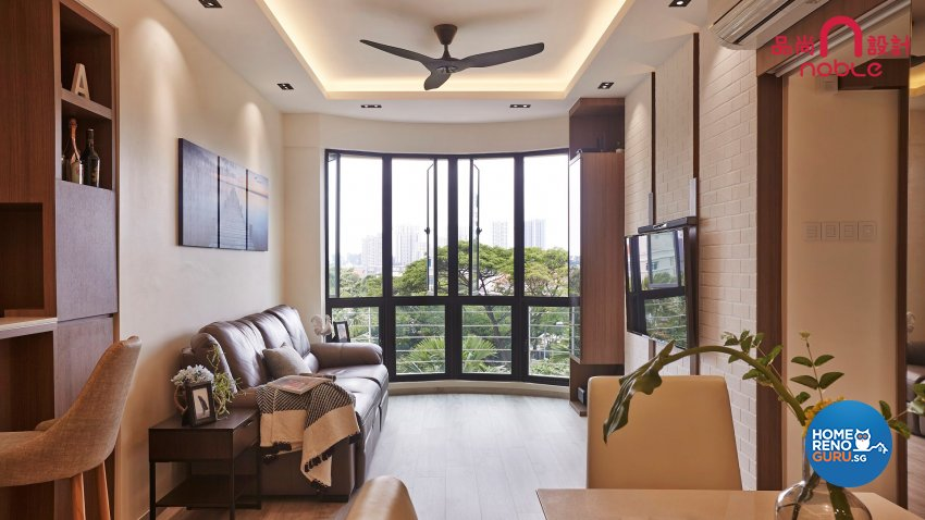 Contemporary, Modern Design - Living Room - Condominium - Design by Noble Interior Design Pte Ltd