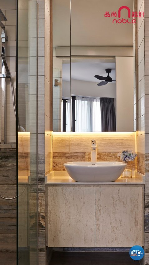 Contemporary, Modern Design - Bathroom - Condominium - Design by Noble Interior Design Pte Ltd