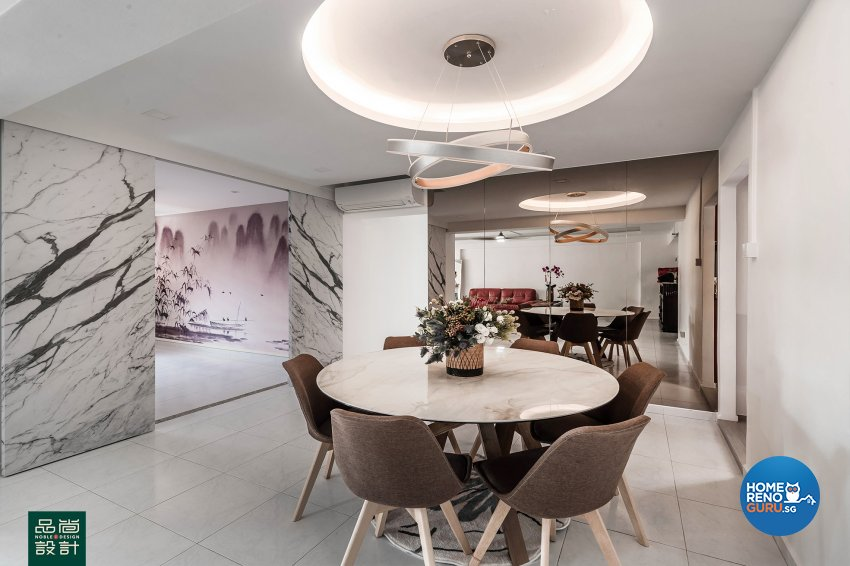 Modern, Others Design - Dining Room - HDB 5 Room - Design by Noble Interior Design Pte Ltd