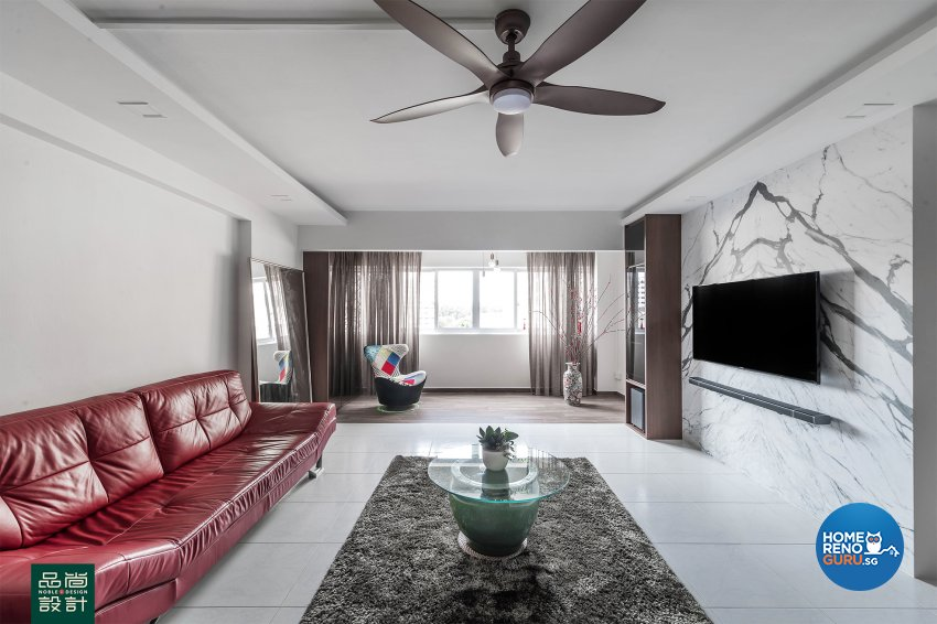 Modern, Others Design - Living Room - HDB 5 Room - Design by Noble Interior Design Pte Ltd