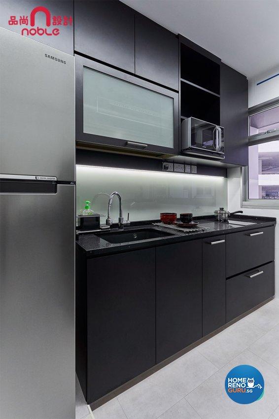 Modern Design - Kitchen - HDB Studio Apartment - Design by Noble Interior Design Pte Ltd