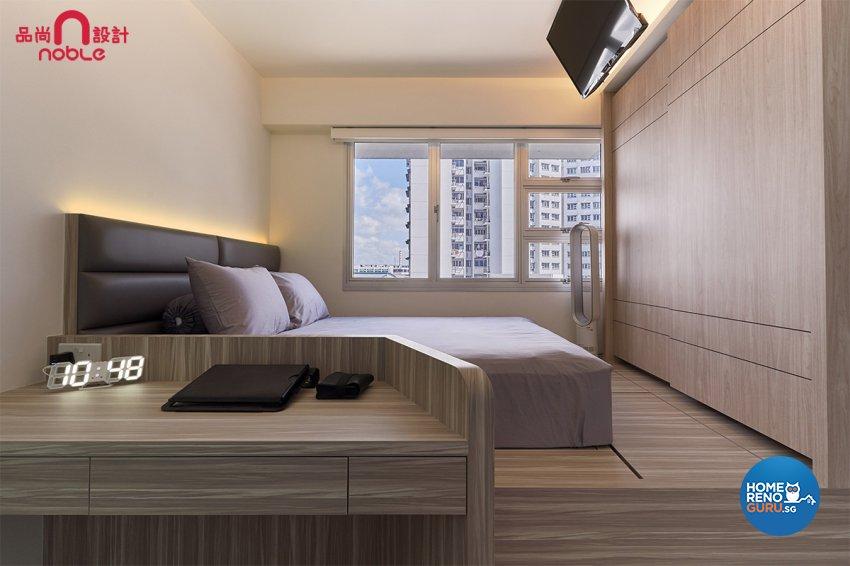 Modern Design - Bedroom - HDB Studio Apartment - Design by Noble Interior Design Pte Ltd