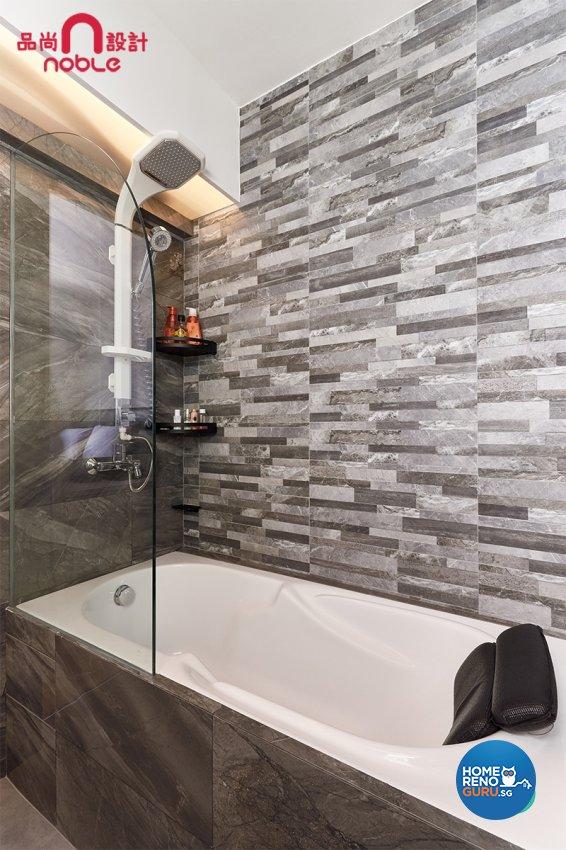 Modern Design - Bathroom - HDB Studio Apartment - Design by Noble Interior Design Pte Ltd