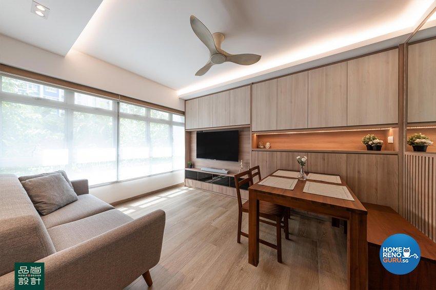 Scandinavian Design - Living Room - HDB 4 Room - Design by Noble Interior Design Pte Ltd