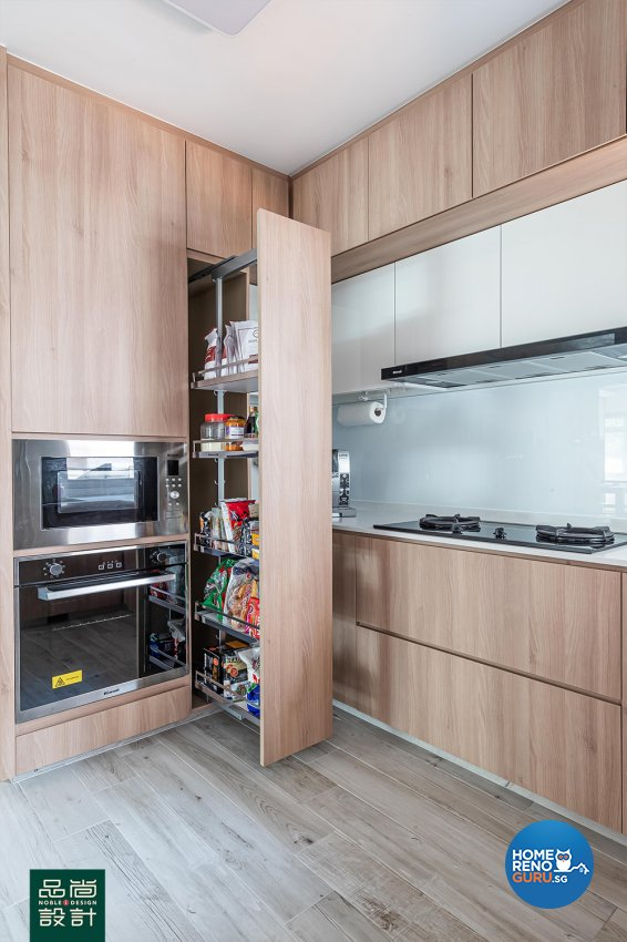 Scandinavian Design - Kitchen - HDB 4 Room - Design by Noble Interior Design Pte Ltd