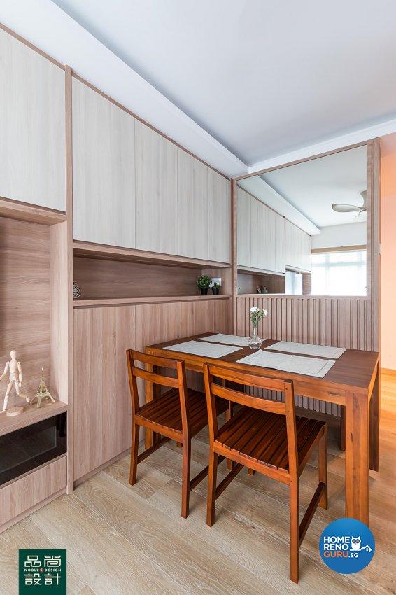 Scandinavian Design - Dining Room - HDB 4 Room - Design by Noble Interior Design Pte Ltd