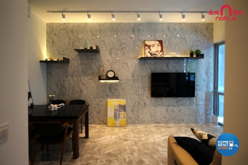 Modern Design - Living Room - Condominium - Design by Noble Interior Design Pte Ltd