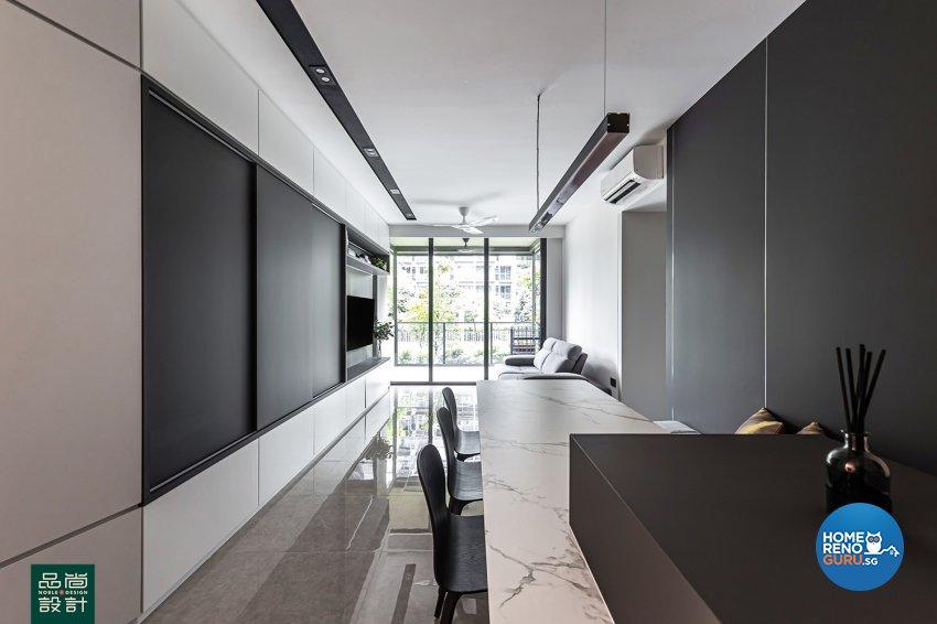 Modern Design - Living Room - Condominium - Design by Noble Interior Design Pte Ltd