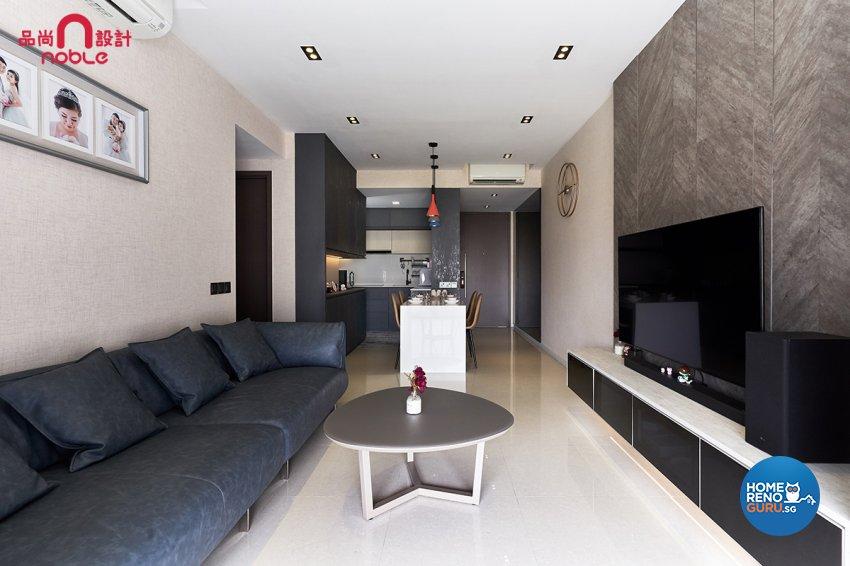 Contemporary, Modern Design - Living Room - Condominium - Design by Noble Interior Design Pte Ltd