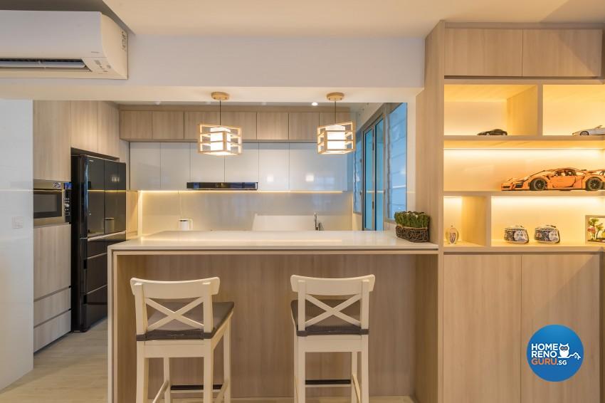 Modern, Scandinavian Design - Kitchen - HDB 5 Room - Design by Noble Interior Design Pte Ltd