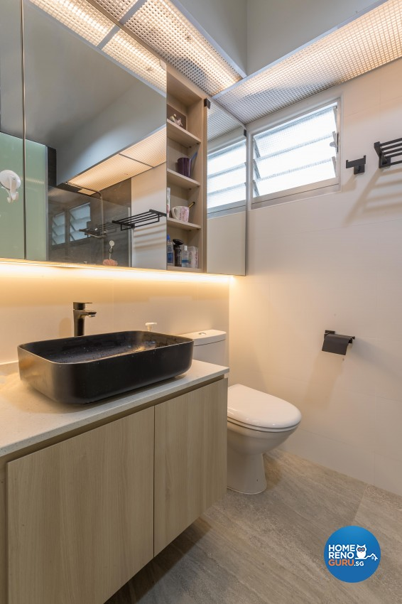Modern, Scandinavian Design - Bathroom - HDB 5 Room - Design by Noble Interior Design Pte Ltd