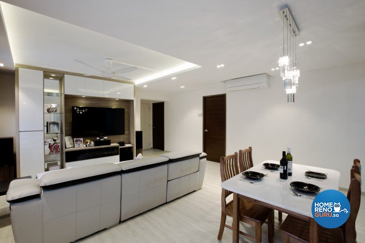 Contemporary, Modern Design - Living Room - HDB 4 Room - Design by NorthWest Interior Design Pte Ltd