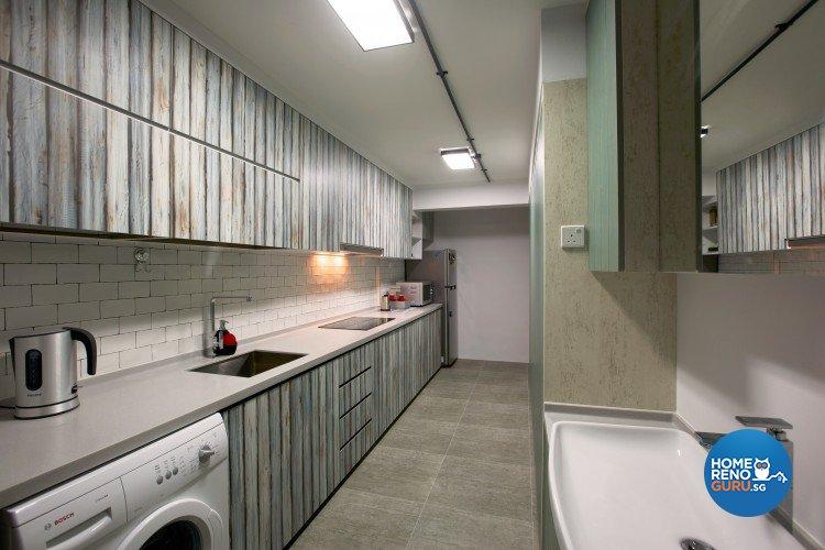 Industrial, Scandinavian Design - Kitchen - HDB 3 Room - Design by NorthWest Interior Design Pte Ltd