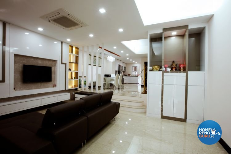 Contemporary, Minimalist Design - Living Room - Landed House - Design by NorthWest Interior Design Pte Ltd