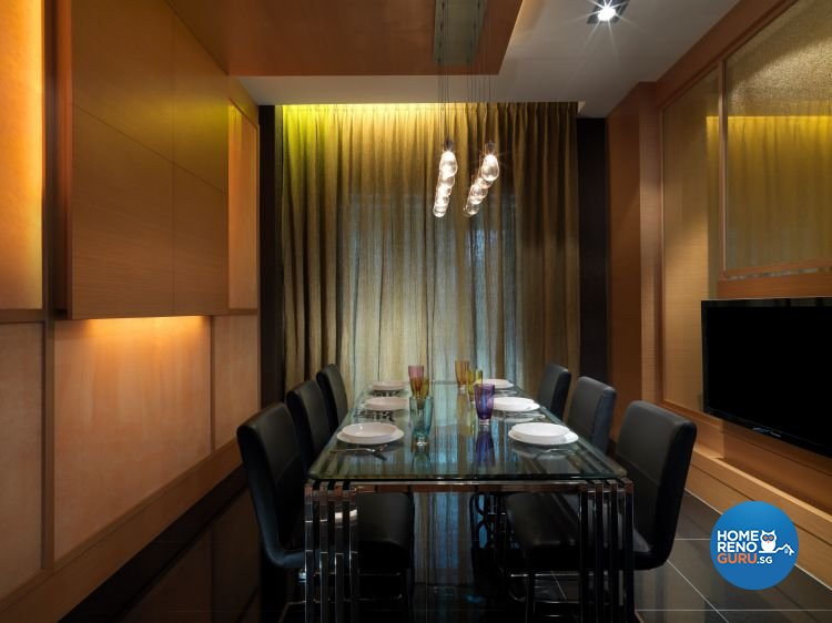 Contemporary, Retro Design - Dining Room - Landed House - Design by NorthWest Interior Design Pte Ltd