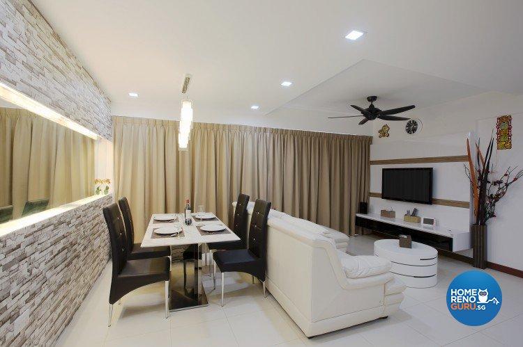 Classical, Modern Design - Dining Room - HDB 4 Room - Design by NorthWest Interior Design Pte Ltd