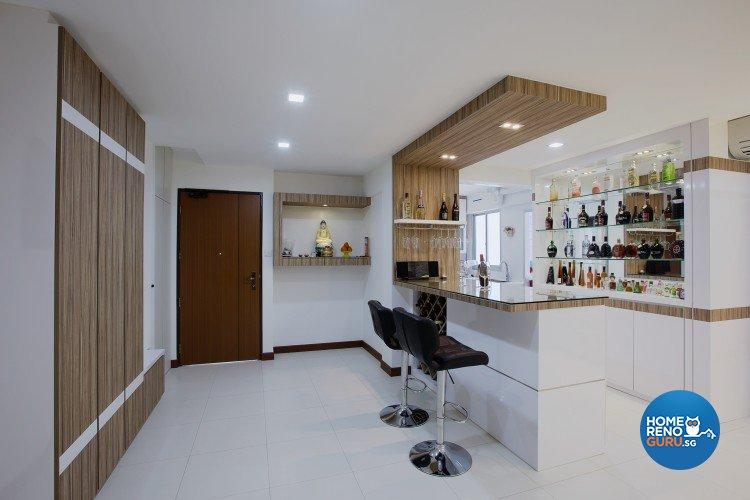 Classical, Modern Design - Living Room - HDB 4 Room - Design by NorthWest Interior Design Pte Ltd
