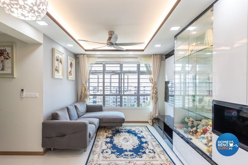 Modern Design - Living Room - HDB 4 Room - Design by NorthWest Interior Design Pte Ltd