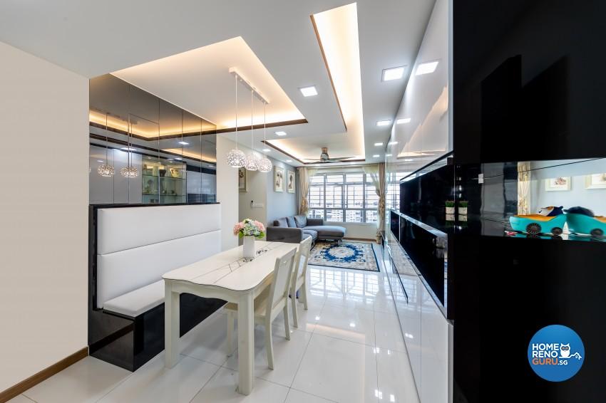Modern Design - Dining Room - HDB 4 Room - Design by NorthWest Interior Design Pte Ltd