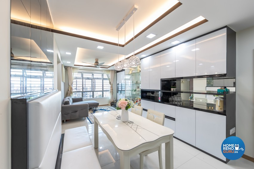 Modern Design - Dining Room - HDB 4 Room - Design by NorthWest Interior Design Pte Ltd