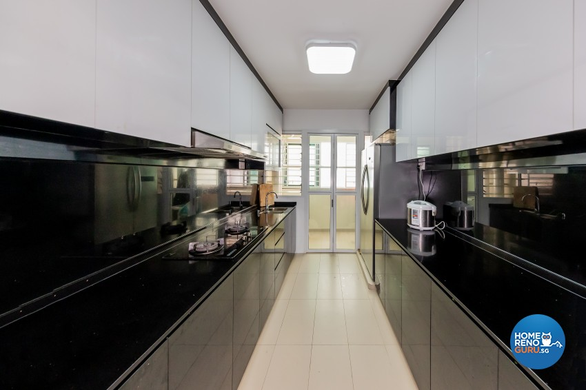 Modern Design - Kitchen - HDB 4 Room - Design by NorthWest Interior Design Pte Ltd