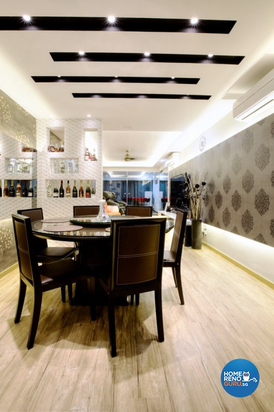 Modern, Victorian Design - Dining Room - HDB 4 Room - Design by NorthWest Interior Design Pte Ltd