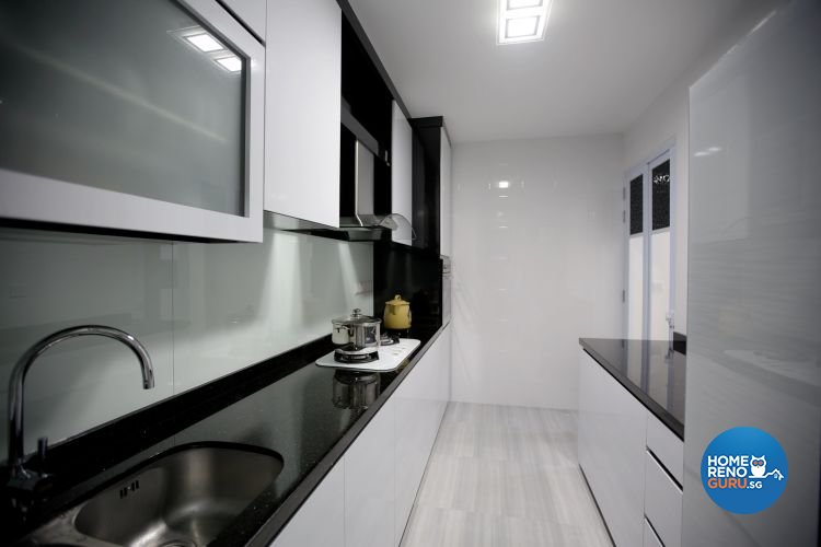 Contemporary, Retro Design - Kitchen - HDB 4 Room - Design by NorthWest Interior Design Pte Ltd