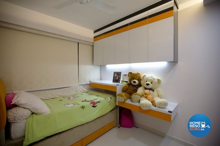 Contemporary, Retro Design - Bedroom - HDB 4 Room - Design by NorthWest Interior Design Pte Ltd