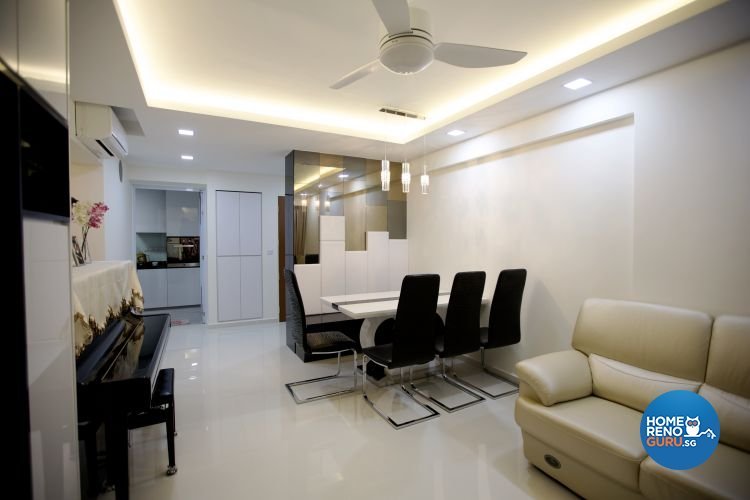 Contemporary, Retro Design - Dining Room - HDB 4 Room - Design by NorthWest Interior Design Pte Ltd