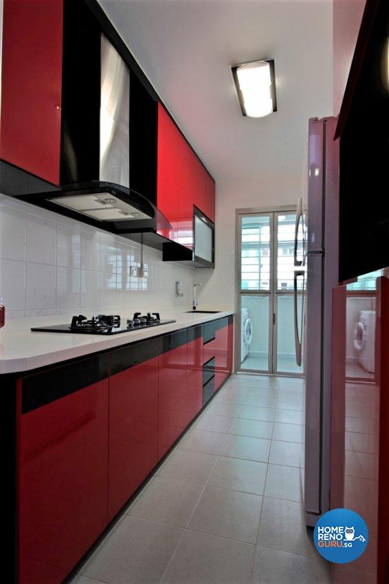 Contemporary, Retro, Victorian Design - Kitchen - HDB 4 Room - Design by NorthWest Interior Design Pte Ltd