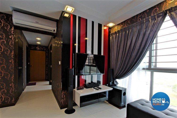 Contemporary, Retro, Victorian Design - Living Room - HDB 4 Room - Design by NorthWest Interior Design Pte Ltd