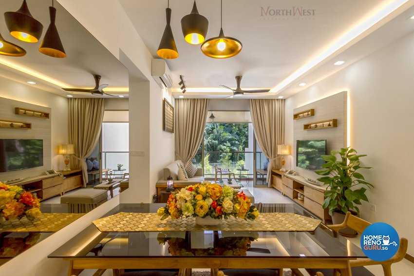 Contemporary, Eclectic Design - Dining Room - Condominium - Design by NorthWest Interior Design Pte Ltd