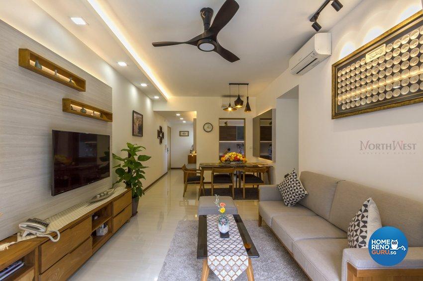 Contemporary, Eclectic Design - Living Room - Condominium - Design by NorthWest Interior Design Pte Ltd